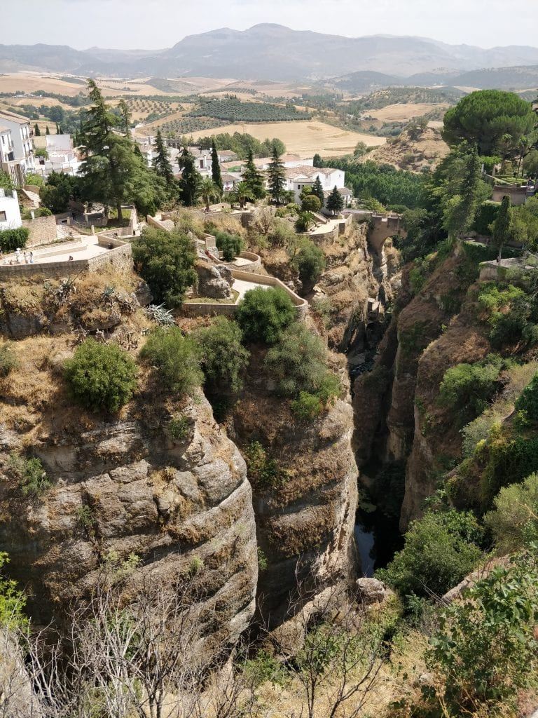 The view from Puente Nuevo in Ronda