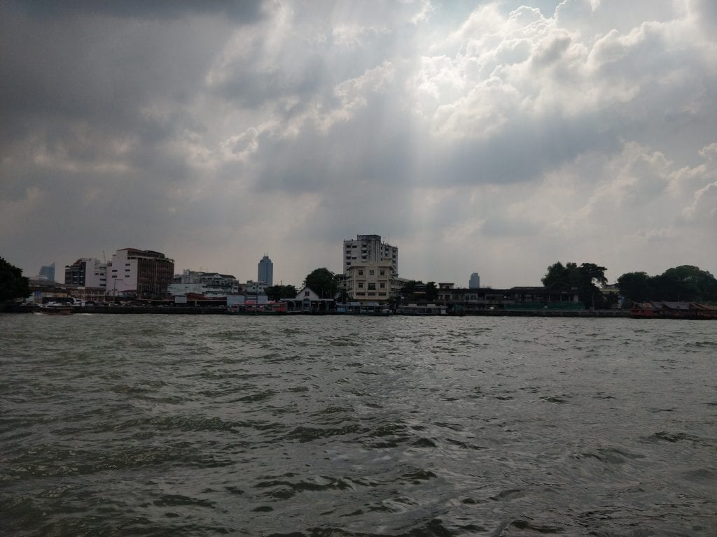 view from the boat in Bangkok