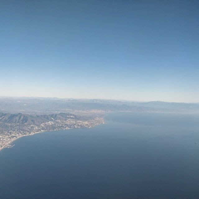 Malaga from the plane