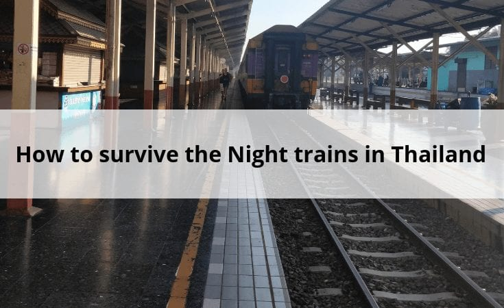 survive the night train in Thailand