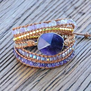 amethystbracelet for travel luck