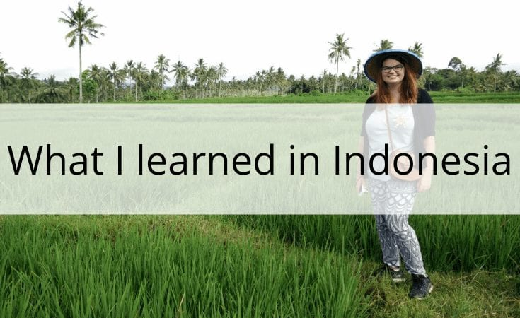 what I learned in Indonesia