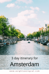 3 day itinerary for Amsterdam