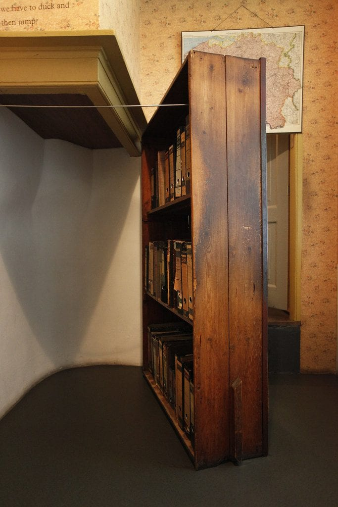 Book case Anne Frank Museum