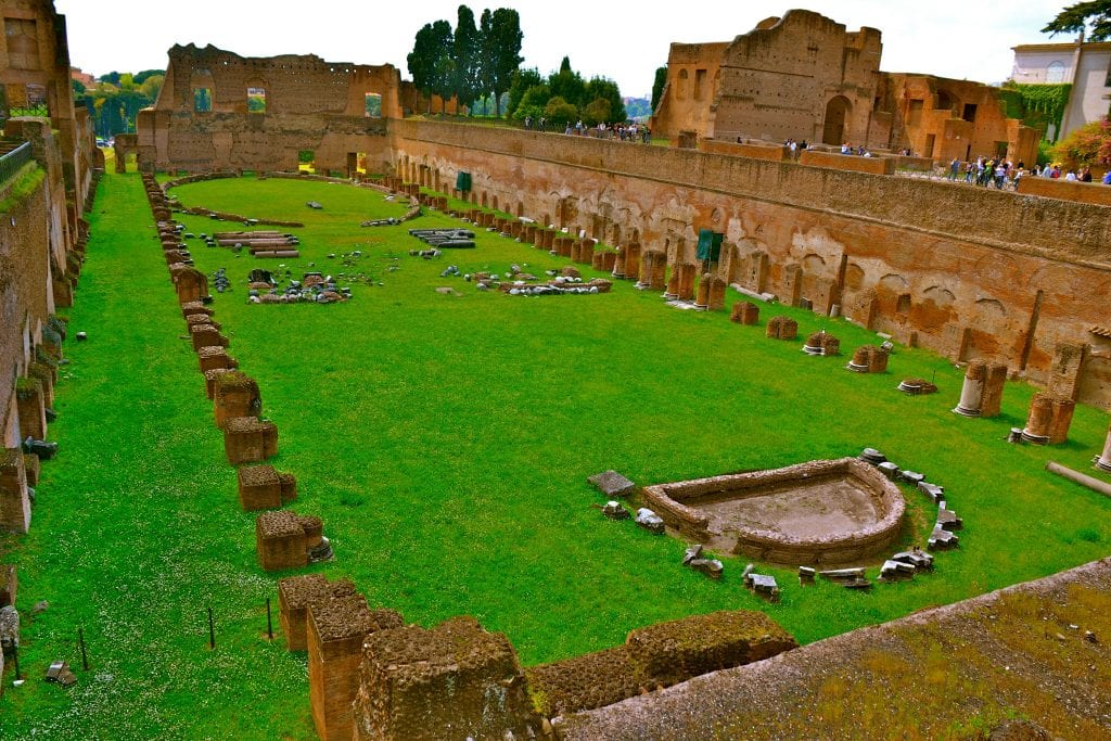Stadium of the Palace of Domitian on the Palatine Hill