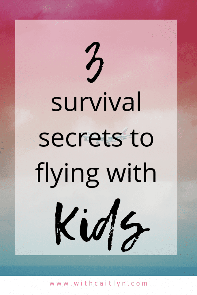 survive flying with kids