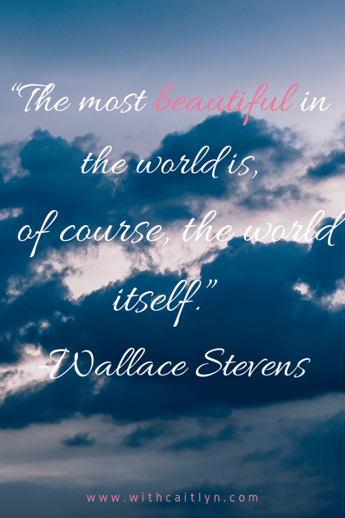 the most beautiful in the world is the world itself