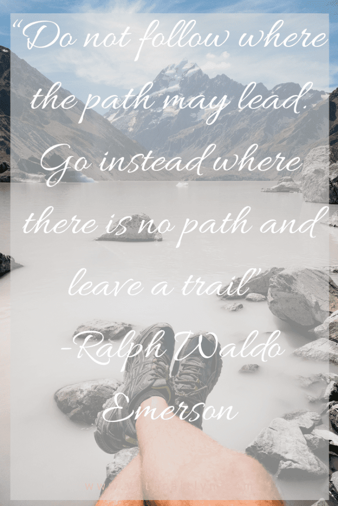 leave a trail travel quote