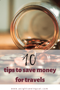 10 tips to save for travels pin