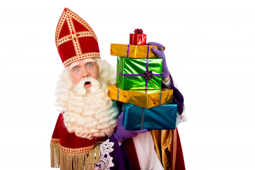 Sinterklaas with gifts